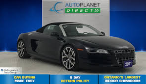 audi r8 spyder convertible used 2011 audi r8 for sale brton on