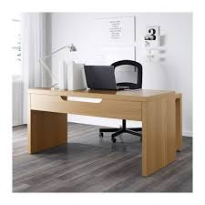 desk with pull out panel malm desk with pull out panel oak veneer 151x65 cm ikea