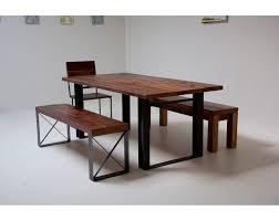 wood dining table with metal legs arlene designs