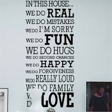 Family House Rules House Rules Family Love Vinyl Wall Stickers Quotes Living Room