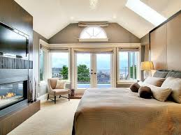 small bedroom fireplace ideas contemporary master with skylight