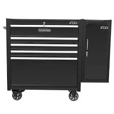 husky 5 drawer side cabinet xdd 36 in 5 drawer tool chest cabinet with side locker mobile
