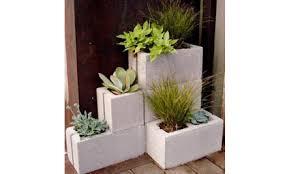 Concrete Planters Home Depot by Diy Concrete Block Planters Care2 Healthy Living