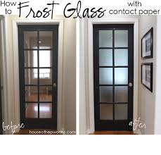 contact paper how to frost glass with contact paper