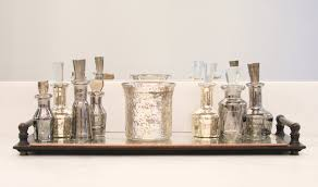 Silver Bathroom Decor by Decorating Pentimento Silver Mercury Glass Candle Holders For