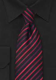and black striped tie