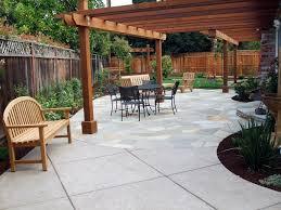 Backyard Concrete Patio Home Design Backyard Concrete Patio Ideas Traditional Medium
