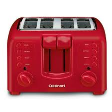 Cuisinart Toaster 4 Slice Cuisinart 4 Slice Compact Toaster Red Kenmoreconnect