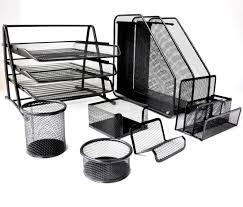 wire mesh desk organizer staggering desk organizer set metal mesh 7 pieces papecero desk