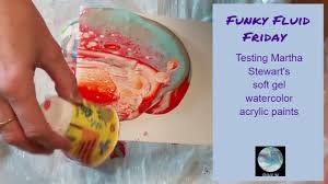funky fluid friday testing martha stewart acrylic watercolor paint