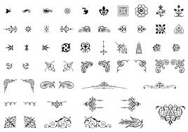 30 free ornaments frames borders vector resources