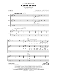 Count On You By Bruno Mars Count On Me Sheet By Bruno Mars Sheet Plus