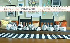 black and white table runners cheap easy diy black and white dropcloth table runner 8 fab black