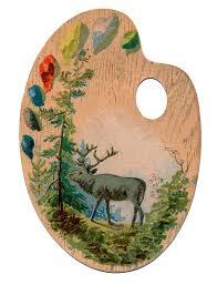 Paint Pallet by Vintage Image Download Cute Artist Palette The Graphics Fairy