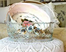 Shabby Chic Wire Baskets by Wire Card Basket Etsy
