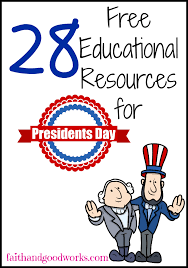 hsedufreemarket free homeschooling resources for president u0027s day