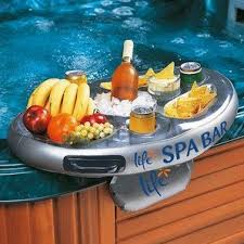 life floating spa bar inflatable tub side tray on onbuy