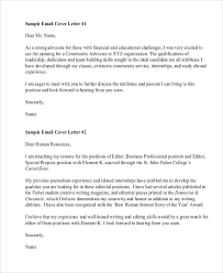 cover email for resume email resume cover letter template resume