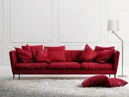 Divano Provenzale by Divano In Pelle Rossa In Classico Stile Interno Bianco Foto