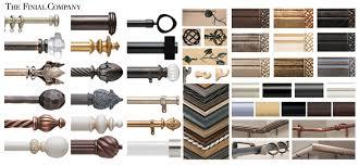 Drapery Companies Custom Curtain Rods I Drapery Hardware I Finials