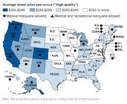 average price for a average marijuana price by state chicago tribune