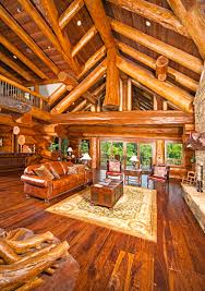 Interior Of Log Homes by It U0027s National Log Cabin Day Tour 10 Rustic Luxe Retreats Log