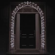 8 lighted entryway front door archway yard