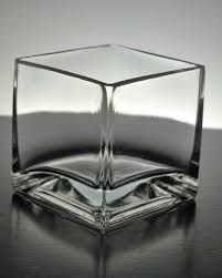 Black Square Vases Glass Square Vase U0026 Candleholder 3 X 3 Set Of 6