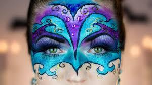 masquerade venetian ball halloween makeup mask tutorial youtube