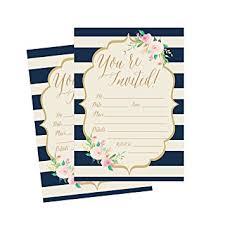 bridal shower invite 50 navy invitations bridal shower invite baby