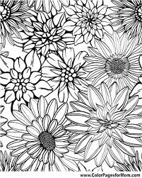 printable coloring pages for adults flowers flower coloring page 79 coloring therapy flower