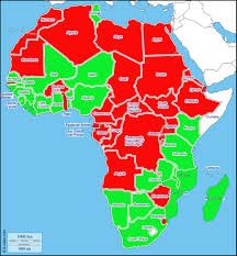 Burundi Africa Map by 2015 Africa Democracy Map