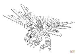 lego chima eagle legend beast coloring page free printable
