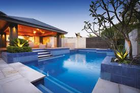decor backyard landscaping ideas with pool design and pool decks