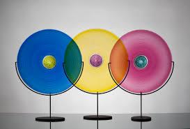 Color Wheel Home Decor One Of A Kind Vessels Vetro Vero Hand Blown Glass Design