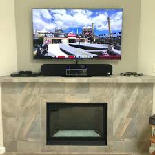 wall mounted tv hide wires fireplace install mount fort satellite