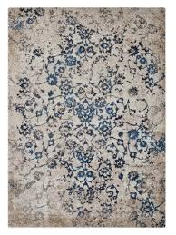 Area Rugs Beige Buy Machine Woven Heatset Polypropylene Floral Area Rug Beige Blue