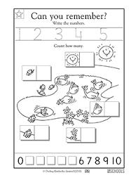 kindergarten preschool math worksheets learning 1 5