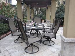Patio Table 6 Chairs Patio U0026 Pergola Luxury Design Patio Set With Swivel Chairs