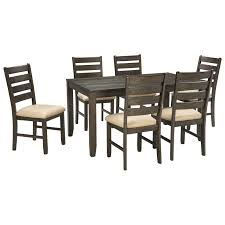 dining room 7 piece sets contemporary 7 piece dining room table set by signature design by