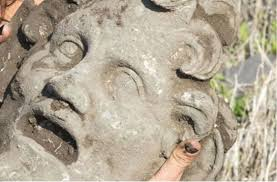 bronze mask of orgiastic wild god pan unearthed in israel