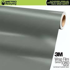 3m scotchprint series 1080 s51 satin battleship gray vinyl wrap