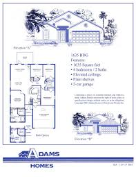 Florida Home Floor Plans Adams Homes Pensacola Floor Plans Home Plan