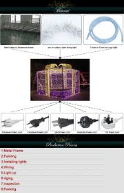 Christmas Outdoor Decorations Gift Boxes by Outdoor Led Christmas Decoration Gift Box For Park Buy Lighted
