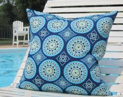 Lumbar Patio Pillows Outdoor Pillows Blue Green Outdoor Pillows Blue Turquoise