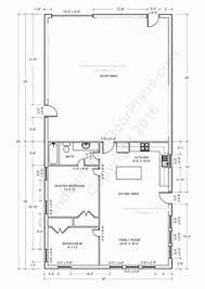 shop floor plans with living quarters house plans of barns with living space fresh 40x60 shop with living