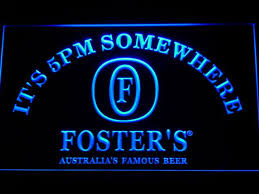 light up beer signs foster s beer sign it s 5 pm somewhere light up bar decor light
