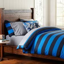 Pb Teen Duvet Rugby Stripe Duvet Cover Pillowcases Pbteen