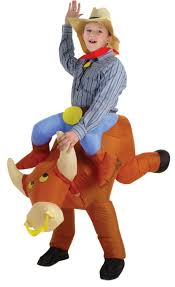 Kids Godzilla Halloween Costumes Boy U0027s Inflatable Bull Rider Costume Kids Costumes