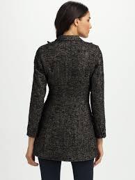black riding jacket smythe tweed riding jacket in gray lyst